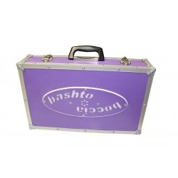 BASHTO Wooden Boccia Ball Case - purple