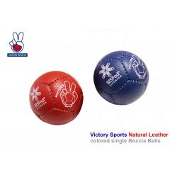 Boccia ball Victory Sports licensed Bashto Sports BC3 colored farebné 01 natural leather licensované