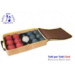 Tutti per tutti boccia ball type cork set 01 bashto sports paralympic logo