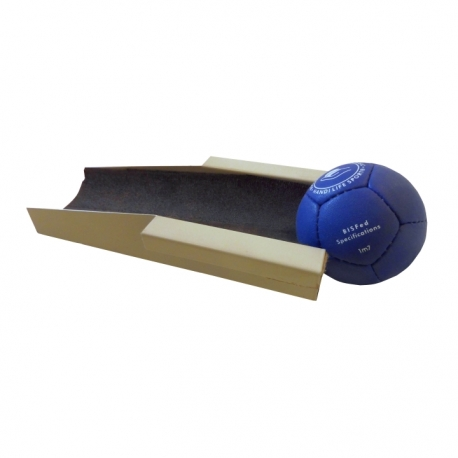 Movable holder for a boccia ball