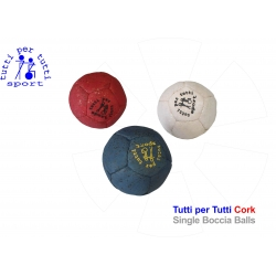 Tutti per tutti boccia ball type cork single ball 01 bashto sports paralympic logo