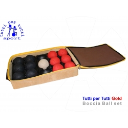 Tutti per tutti boccia ball type gold set 01 bashto sports paralympic logo