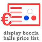 Boccia balls EN price list